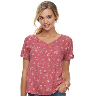 So Juniors' SO Dolman Sleeve V-Neck Tee