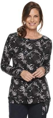 Croft & Barrow Women's Print Side-Tie Top