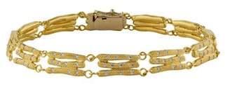 Anne Sportun 18K Diamond Bamboo Bracelet