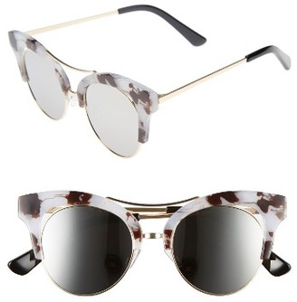 Women's Bp. 56Mm Funky Cat Eye Sunglasses - Black/ Gold $12 thestylecure.com