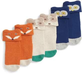 Boden Mini 3-Pack Peculiar Pets Socks