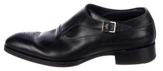 Tom Ford Leather Monk Strap Shoes