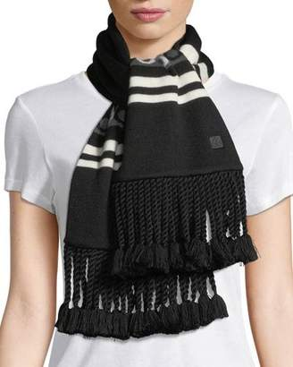 Moose Knuckles Moose Canuk Striped Scarf w/ Braids