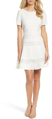 Women's Chelsea28 Mixed Media Dress $139 thestylecure.com