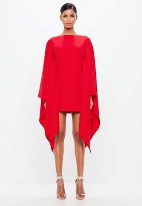 Missguided Red Kimono Sleeve Midi Dress