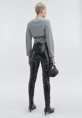Alexander Wang CROPPED V-NECK SWEATER