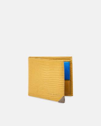 Ted Baker LOBBEE Lizard-effect bi-fold leather wallet