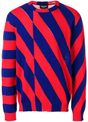 Calvin Klein striped color-block sweater
