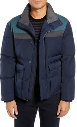 Vince Color Block Puffer Jacket