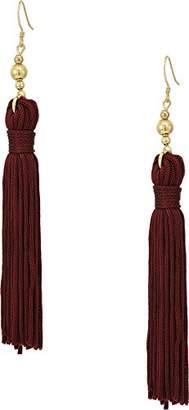 Kenneth Jay Lane Women's Polished Gold Bead and Tassel Fishhook Earrings