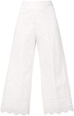 Twin-Set broderie anglaise cropped trousers