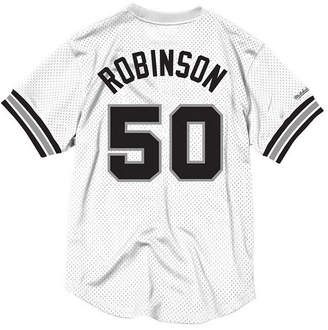 b59852a37 Mitchell   Ness Men David Robinson San Antonio Spurs Name and Number Mesh  Crewneck Jersey