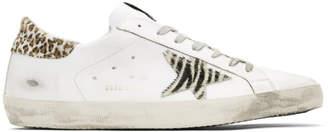 Golden Goose White Wild Superstar Sneakers