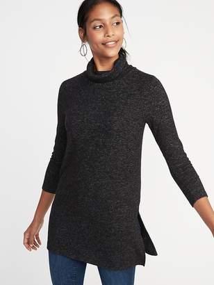 Old Navy Plush-Knit Turtleneck Tunic for Women
