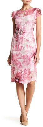 KOMAROV Cap Sleeve Keyhole Dress $278 thestylecure.com