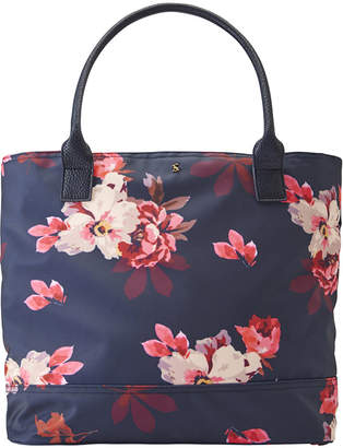 Joules Cariwell Canvas Shoulder Bag - French Navy Bircham Blossom
