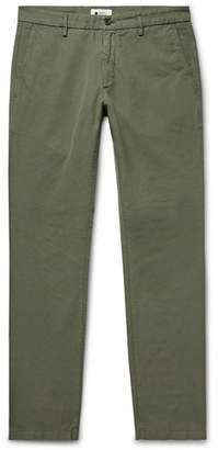 Karl Lagerfeld NN07 Slim-Fit Cotton And Linen-Blend Trousers