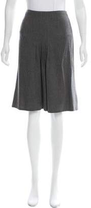 Ralph Lauren Black Label Pleated Knee-Length Skirt