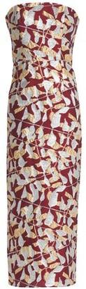 J. Mendel J.mendel Strapless Metallic Silk-Blend Jacquard Midi Dress