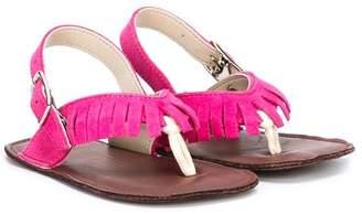 Pépé fringe T-strap sandals