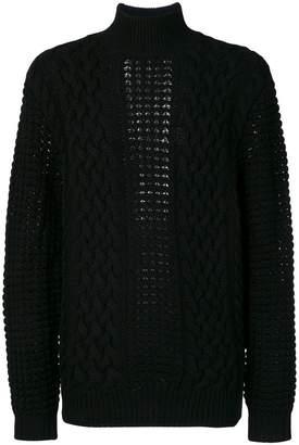 Balmain knitted turtlneck jumper