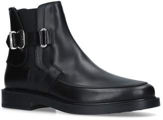 Tod's Leather Buckle Boots