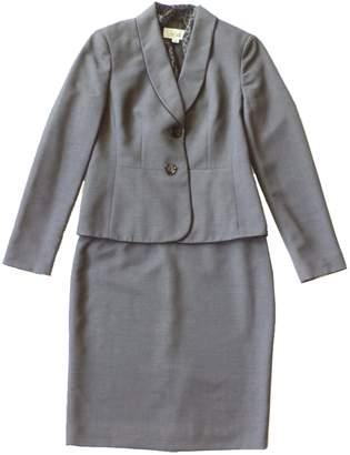Le Suit Women's Scarf Skirt Suit, Steel/Black