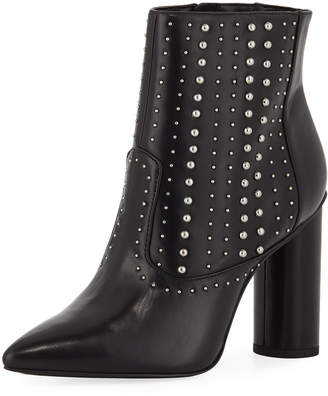 BCBGeneration Hollis Studded Faux-Leather Booties, Black