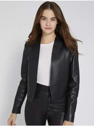 Alice + Olivia Harvey Open Front Leather Jacket