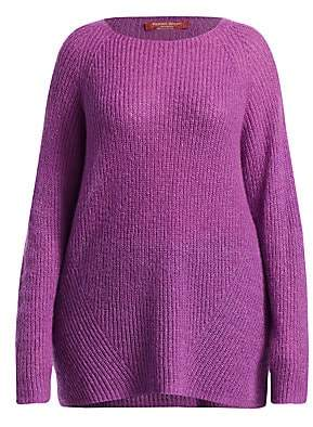 Marina Rinaldi Marina Rinaldi, Plus Size Women's Mohair Blend Ribbed-Knit Sweater