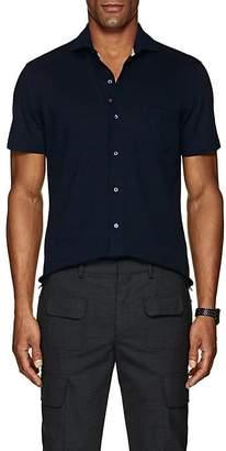 Isaia Men's Wool Piqué Shirt