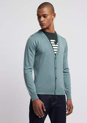 f8cce59983 Emporio Armani Green Men's Sweaters - ShopStyle