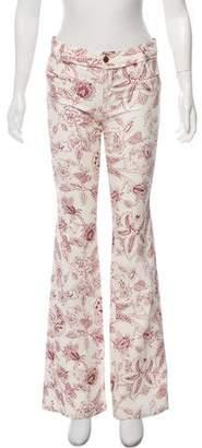 Isabel Marant Printed Wide- Leg Jeans