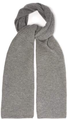Allude Waffle Knit Cashmere Scarf - Womens - Grey
