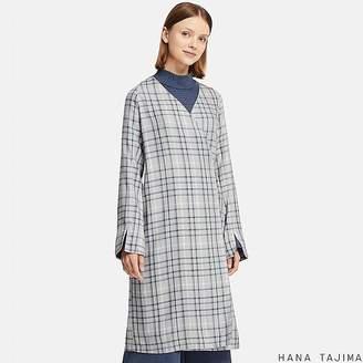 Uniqlo Women's Rayon Wrap Checked Long-sleeve Tunic (hana Tajima)
