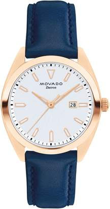 Movado Heritage Datron Leather Strap Watch, 31mm