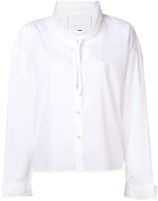 Closed drawstring fitted shirt