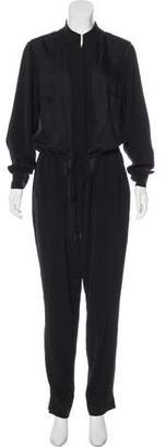 Halston Long Sleeve Straight-Leg Jumpsuit