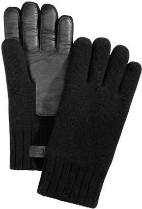 UGG Men's Knit & Leather Gloves