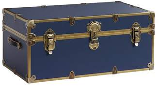 Pottery Barn Teen Vinyl Dorm Trunk, Navy with Rubbed Brass, Standard