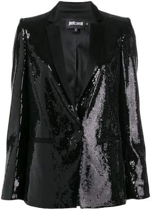 Just Cavalli shawl lapel sequin blazer