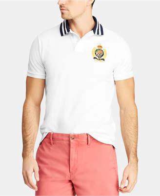 Polo Ralph Lauren Men Custom Slim Fit Crest Mesh Polo Shirt