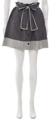 Theory Mini Colorblock Skirt