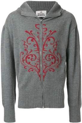 Vivienne Westwood hooded zip cardigan