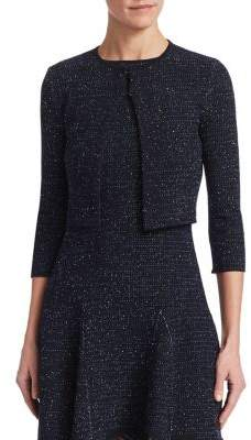Oscar de la Renta Three-Quarter Sleeve Cardigan