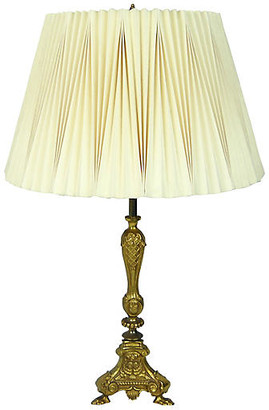 One Kings Lane Vintage Solid Brass Boudoir Lamp - Acquisitions Gallerie