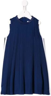 DKNY side stripe pleated dress