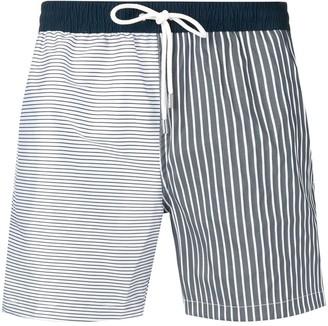 Eleventy striped swim shorts