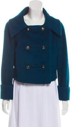 Diane von Furstenberg Faux Fur Collard Jacket