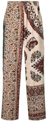 Paria Farzaneh patchwork paisley trousers